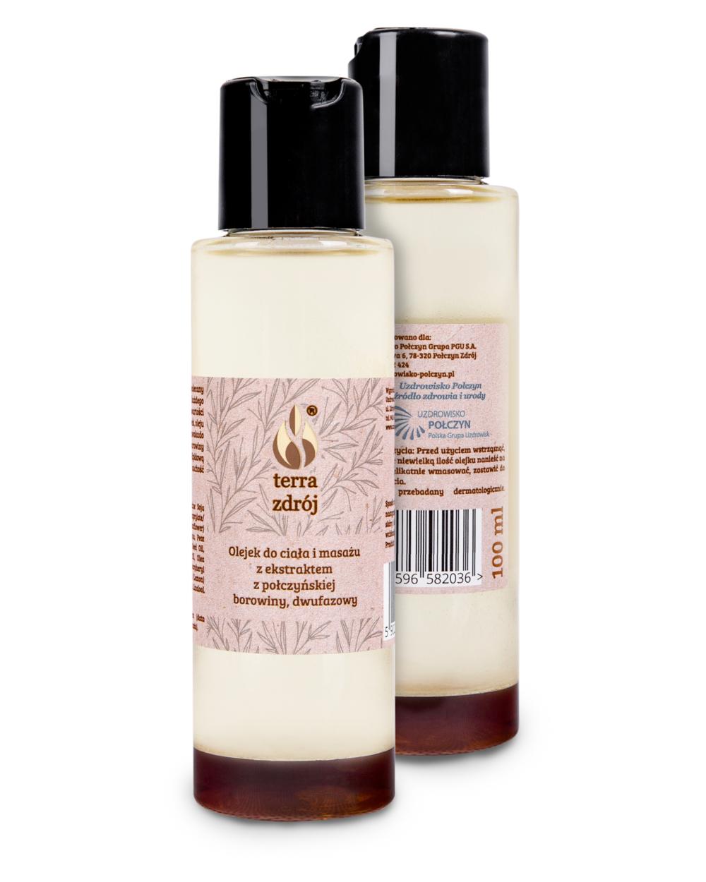 Olejek dwufazowy do ciała i masażu z połczyńską borowiną