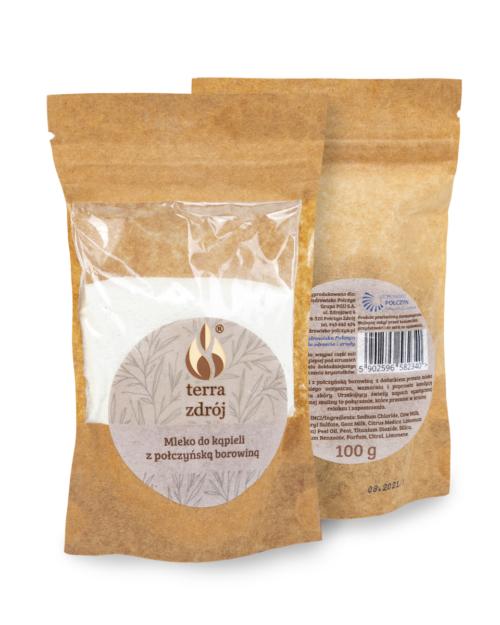 Sól do kąpieli z połczyńską borowiną o zapachu maliny z cytryną – porcja na jeden raz terra zdroj